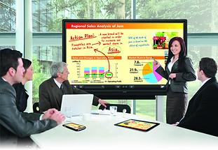 """Monitor Interactivo Sharp LED LCD de 60"""" 70"""" 80"""" pulgadas con sistema de protección de golpes y accidentes."""