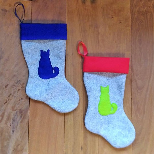 Cat Silhouette Pet Stocking