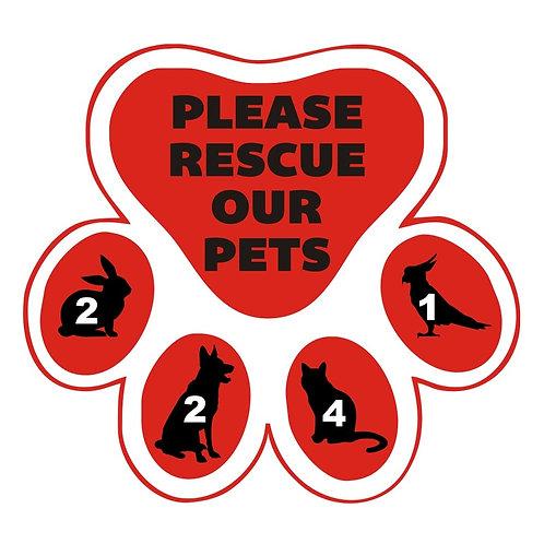 In Case of Emergency Pet Door Decal
