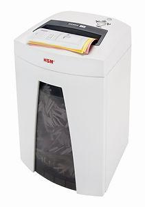 Destructora de Documentos para Oficina HSM 1821 B32 de 27 hojas por pasada y corte en tiras. HSM es una marca de procedencia Alemana.