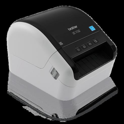 Impresora de código de Barras & etiquetas autoadhesivas Brother QL1100 USB de 10 cm de ancho - Ideal para pequeños negocios de alimentación, repuestos automotrices, educación, abastos, farmacia y muchas otras aplicaciones.