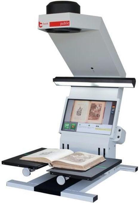 Escáner de libros históricos Book2Net Kiosko en Formato A4, A3, A2 y A2+. Escaner Aleman con tecnologia y lentes Sneider 100% Alemanes. Para trabajo industrial de documentos con garantía de 5 millones de hojas.