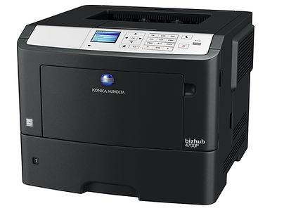 Impresora láser Blanco y Negro B&N formato A4 Konica Minolta BH4700P especial para oficinas corporativas