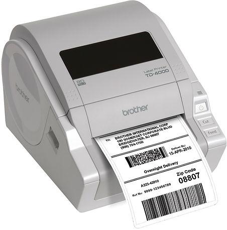 Impresora de código de Barras & etiquetas autoadhesivas Brother TD4000 USB de 10 cm de ancho - Ideal para pequeños negocios de alimentación, repuestos automotrices, educación, abastos, farmacia y muchas otras aplicaciones.