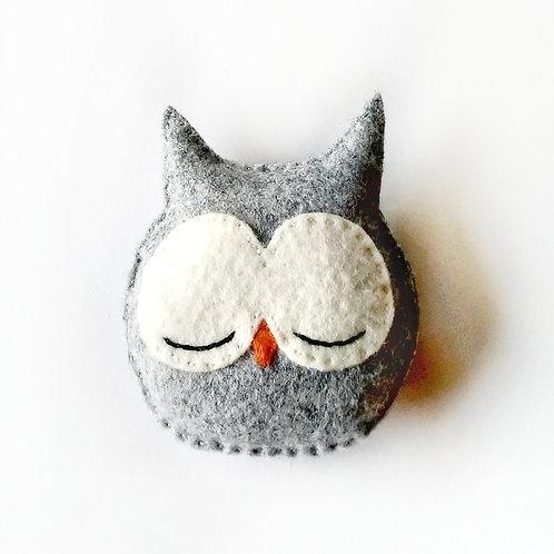 Sleepy Owl Catnip Toy