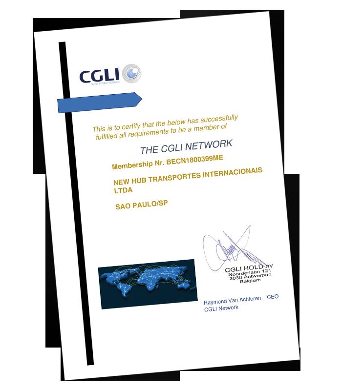 New Hub NVOCC agora é membro da rede global CGLI - LCL PLUS DIVISION