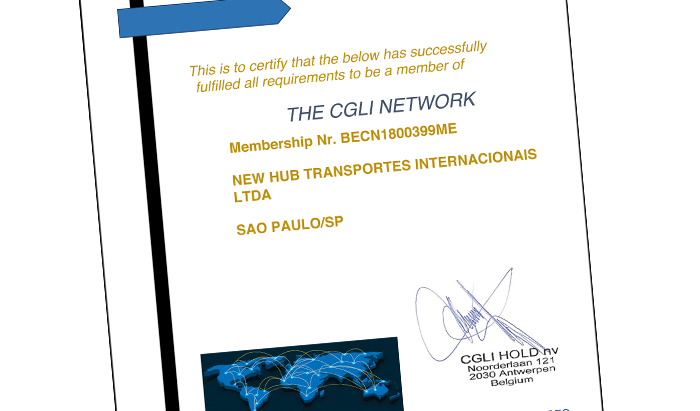 """A New Hub NVOCC Brazil agora é membro da rede global CGLI - LCL Plus Division"""