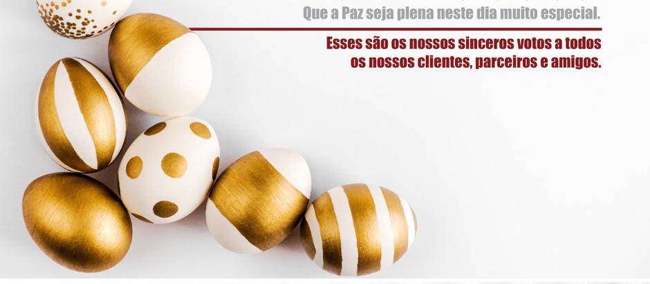 Mensagem de Páscoa aos clientes, amigos e fornecedores da New Hub NVOCC Brazil.