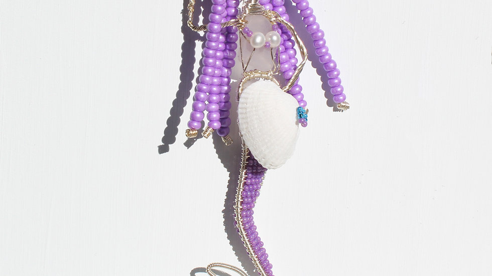 Mermaid Sea Glass Ornament by Victoria -19382