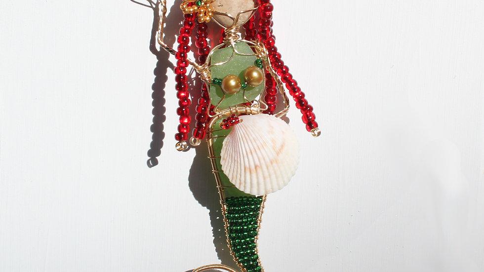 Mermaid Sea Glass Ornament by Victoria -19374