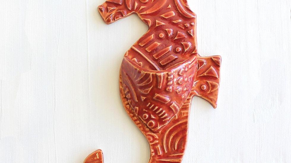 Seahorse Wall Pocket by Jen -294