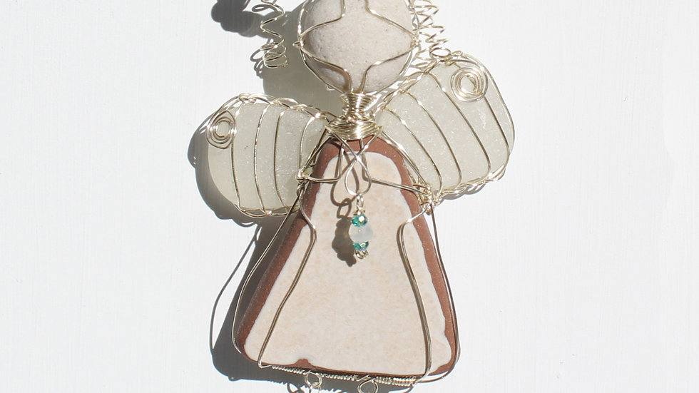 Angel Sea Glass Ornament by Victoria -19195