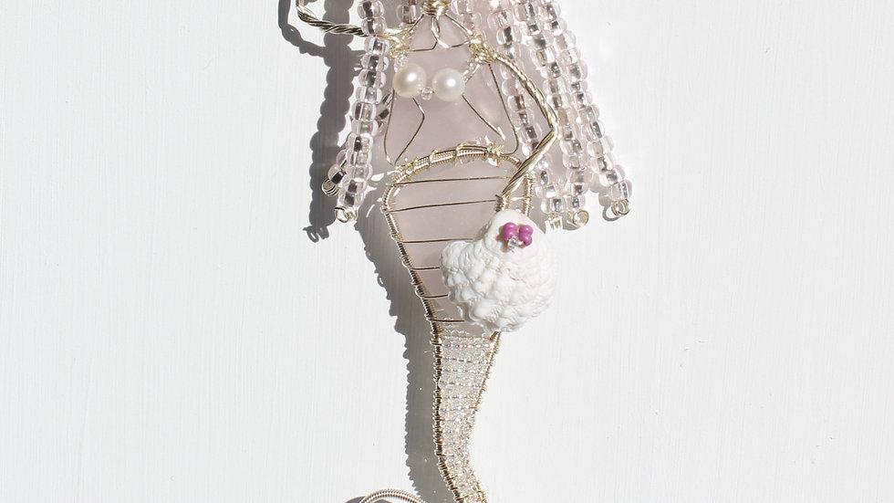 Mermaid Sea Glass Ornament by Victoria -19380