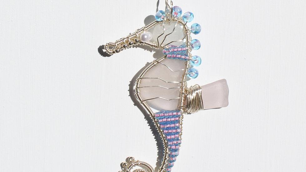 Seahorse Sea Glass Ornament by Victoria -19349