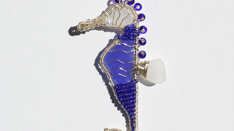 Seahorse Sea Glass Ornament by Victoria -19313