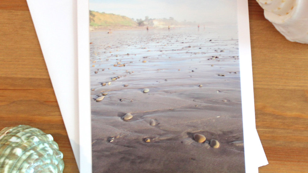Seacliff State Beach Aptos Scattered Stones photo card-9529