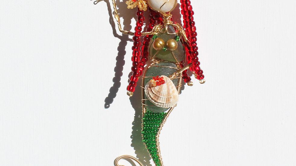Mermaid Sea Glass Ornament by Victoria -19381