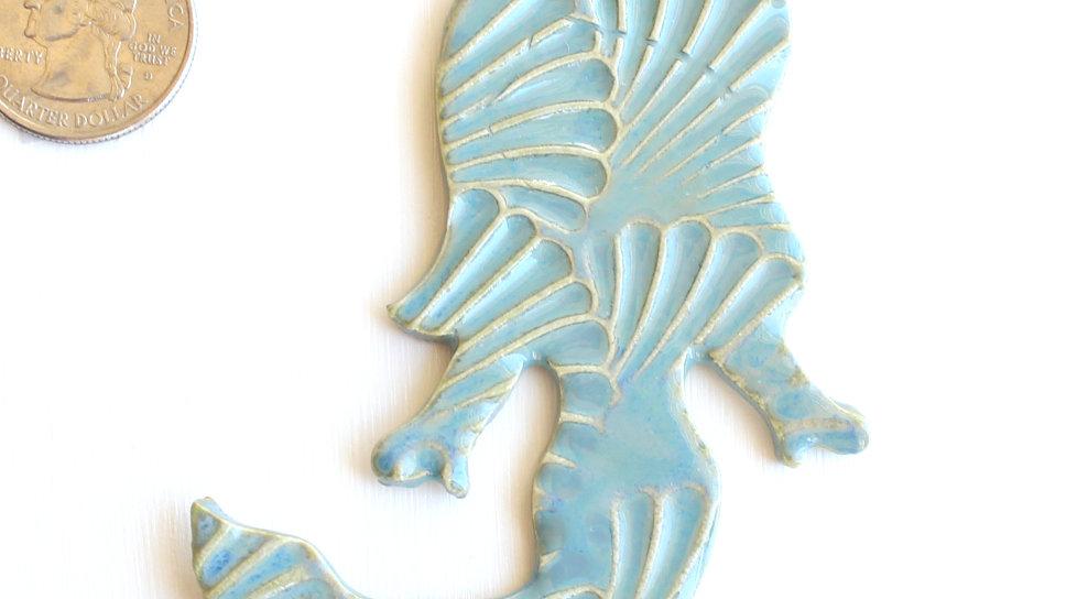 Light Blue Mermaid Ceramic Ornament by Jen -0695