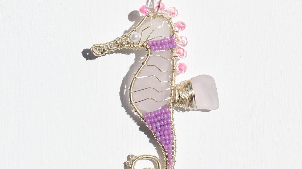 Seahorse Sea Glass Ornament by Victoria -19311