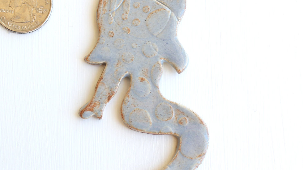 Light Blue Mermaid Ceramic Ornament by Jen -0684