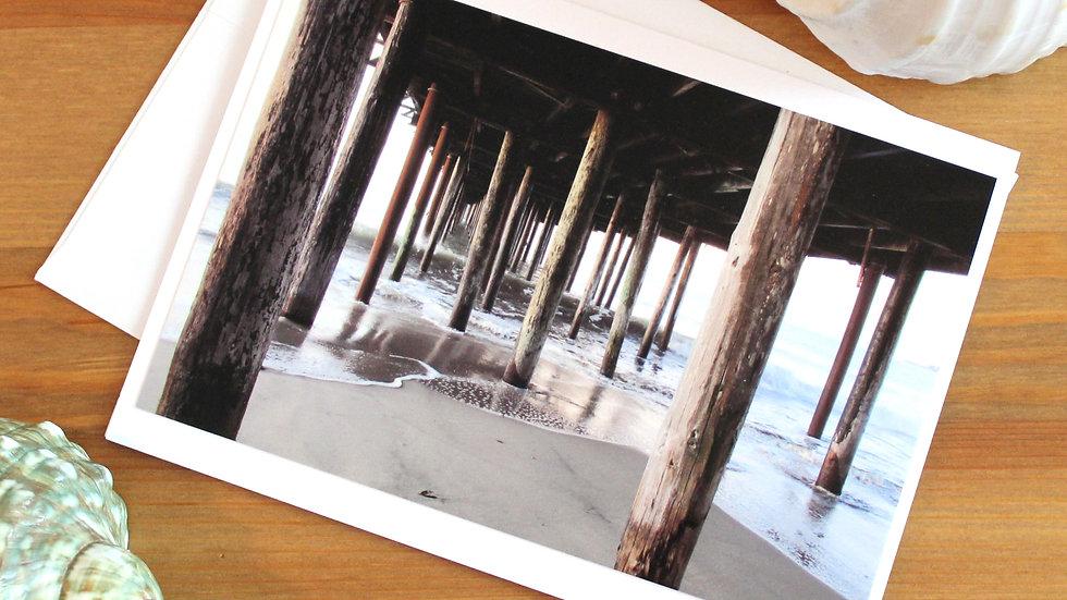 Pier at Seacliff State Beach Aptos photo card -9537