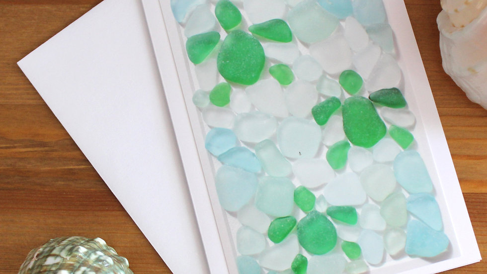 Three Turtles in Water Sea Glass Photo Card by Eileen