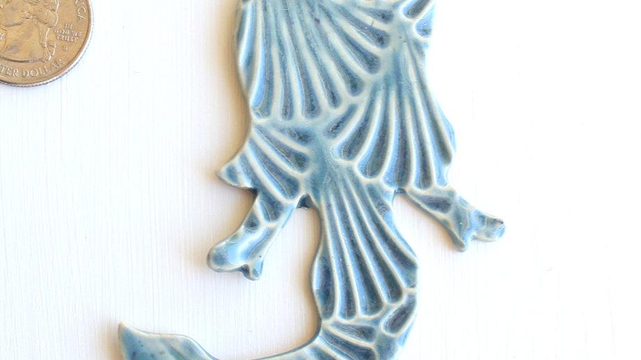 Teal Mermaid Ceramic Ornament by Jen -0692