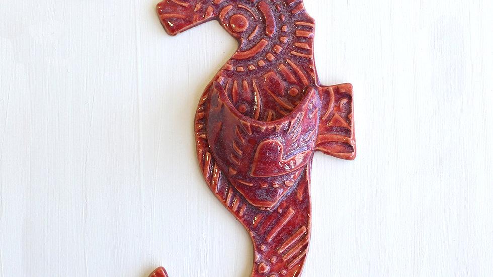 Seahorse Wall Pocket by Jen -300