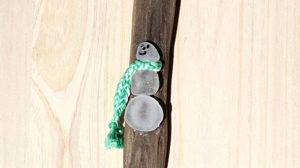 Snowman Ornament Sea Glass Driftwood by Nicola -420