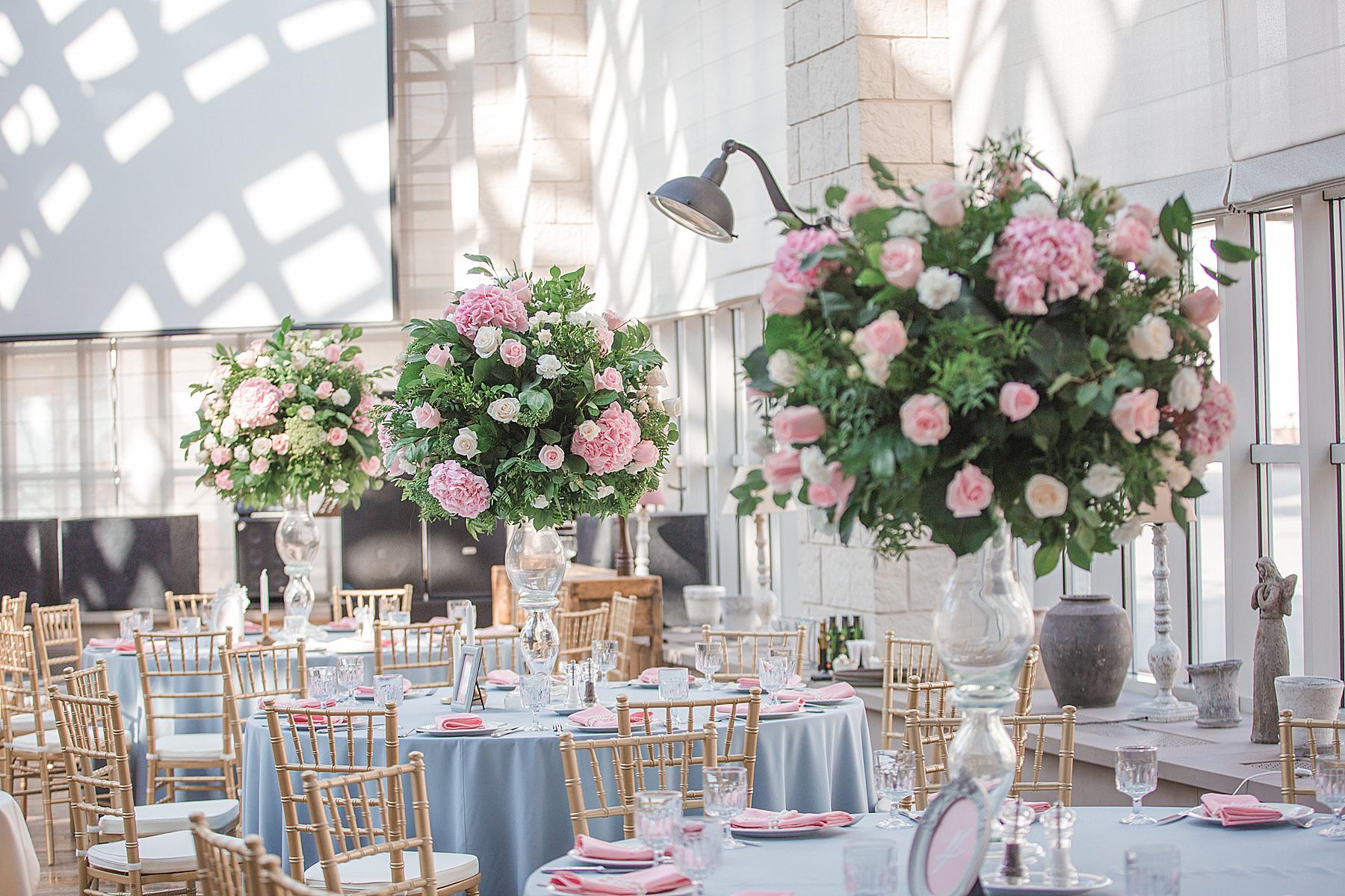Свадьба в голубых и розовых тонах