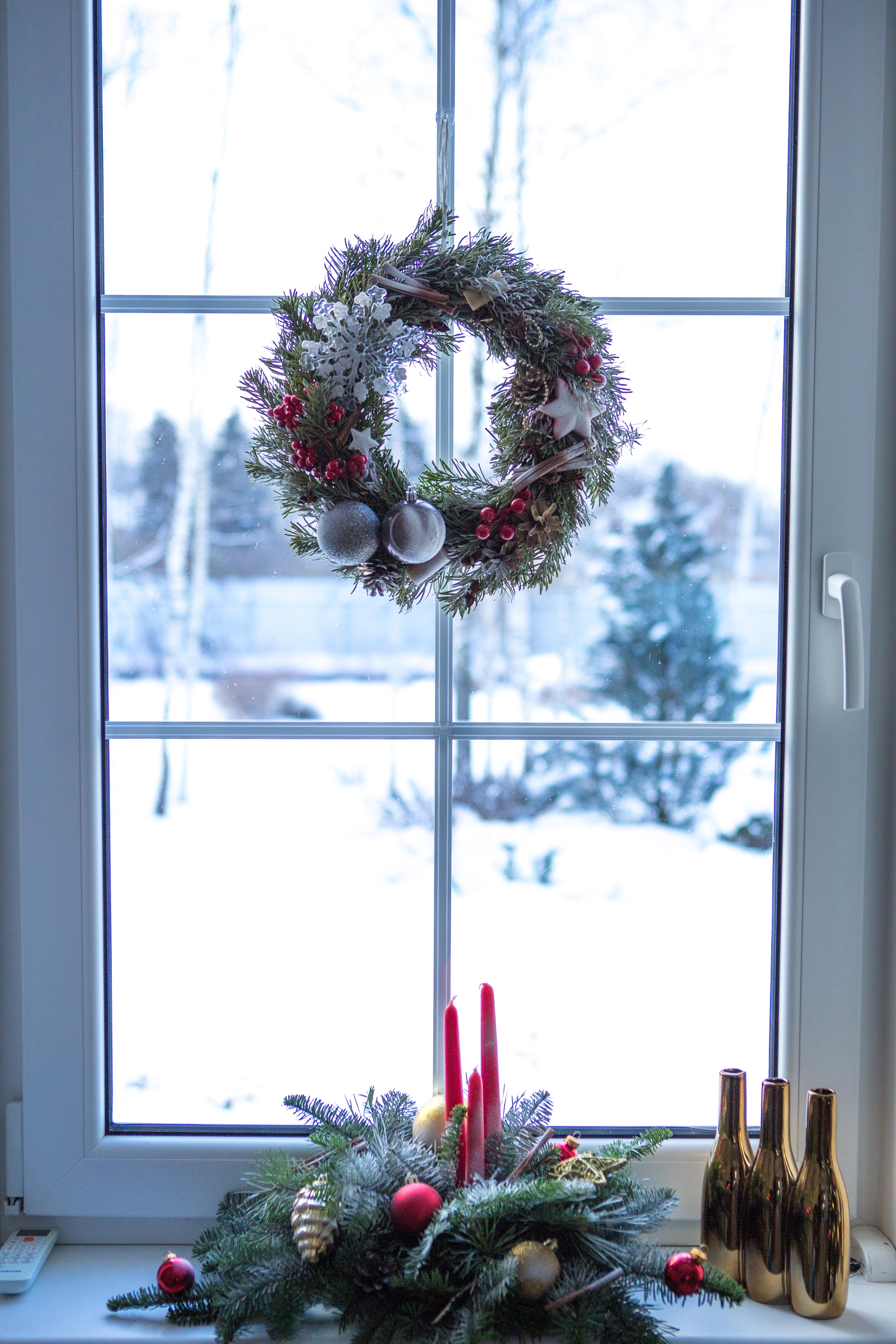 Декор дома на Новый год