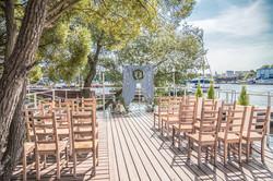 Аркан на свадьбу в морском стиле