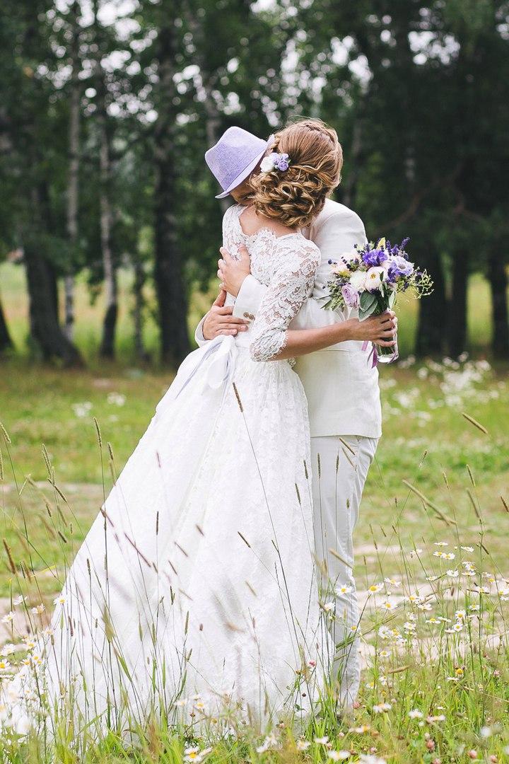 Лавандовая, сиреневая свадьба.