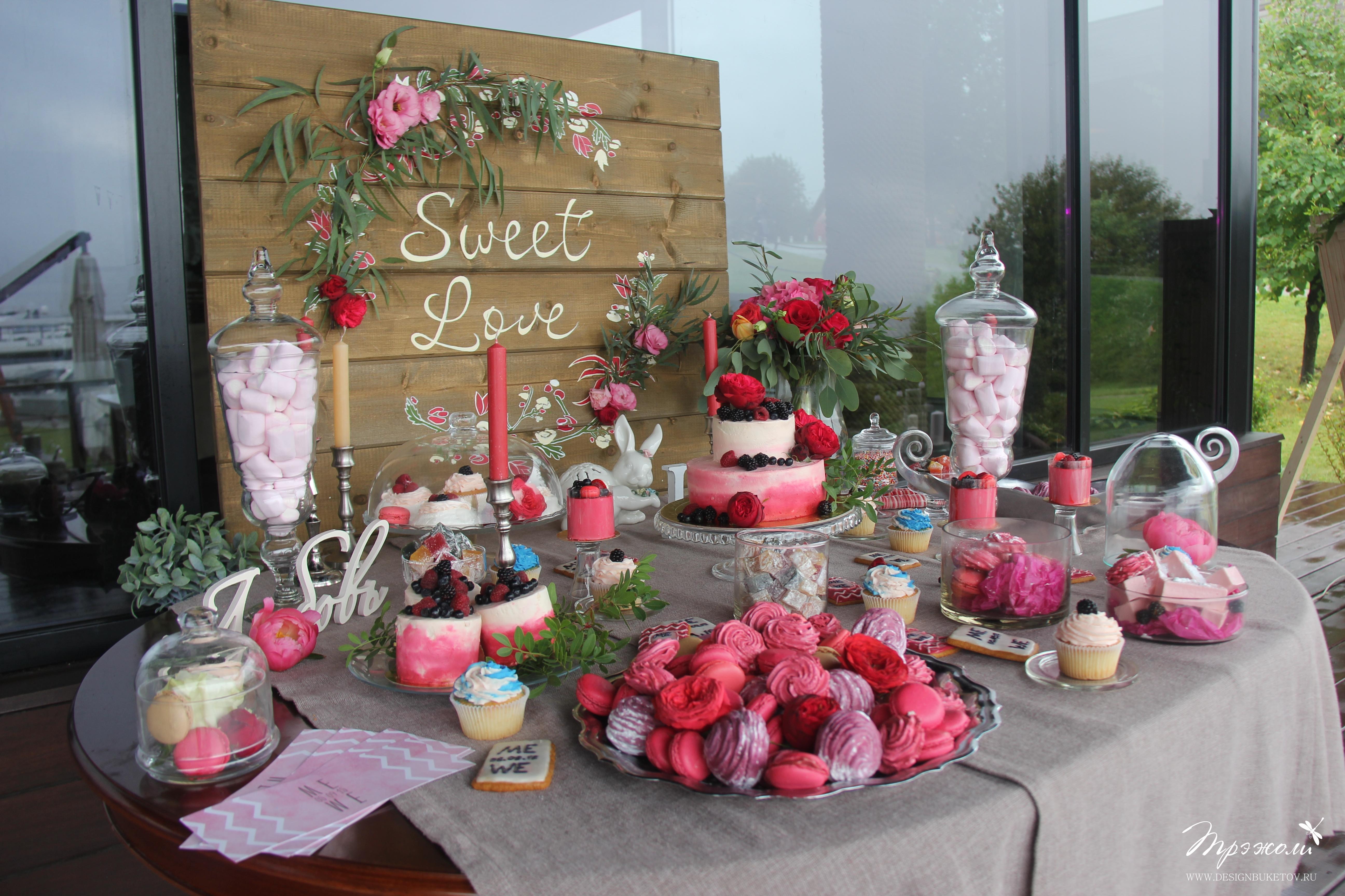 Candy Bar на свадьбу Москва