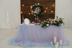 Свадьба в пудровых тонах. Декор