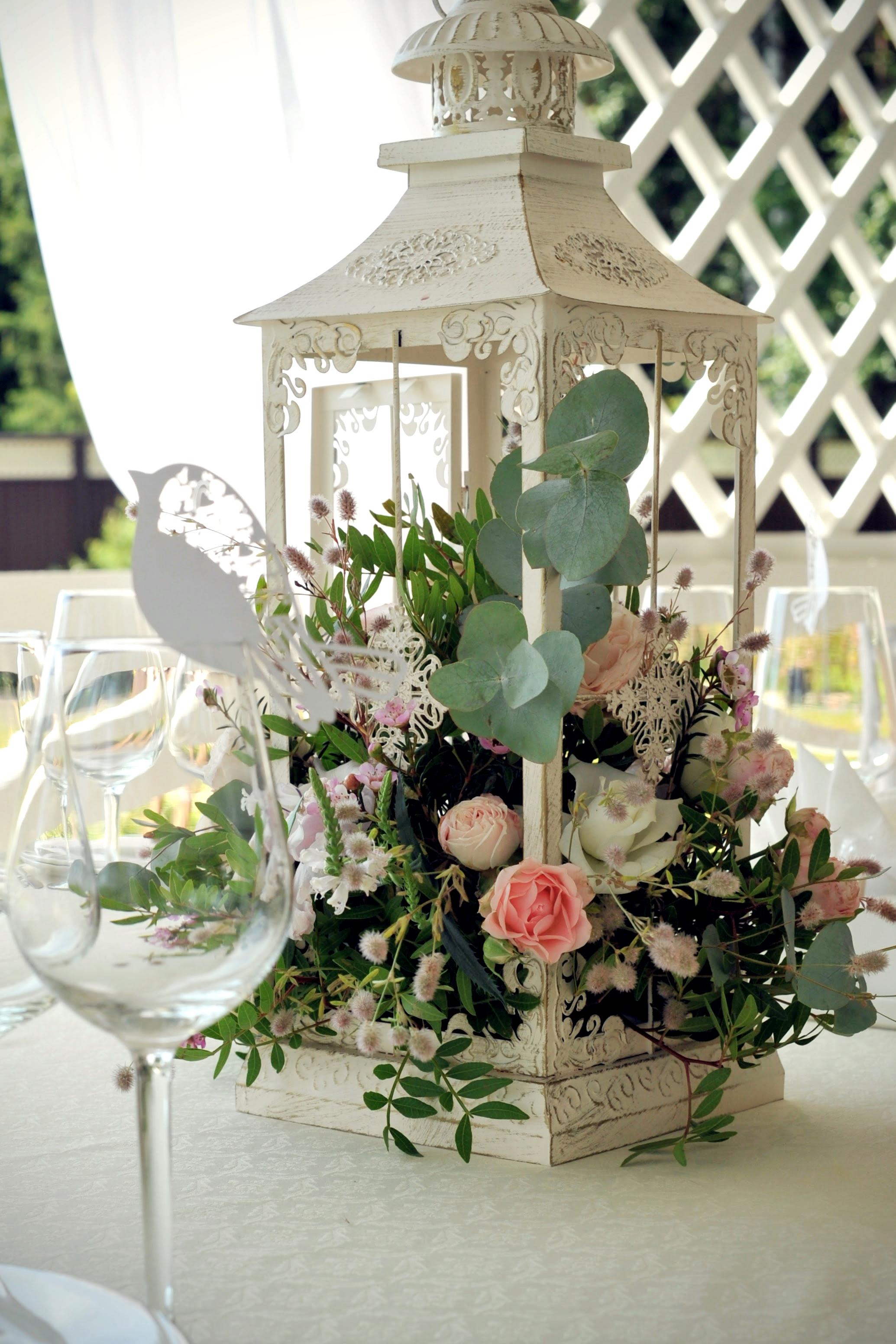 Цветы на столы гостей- свадьба