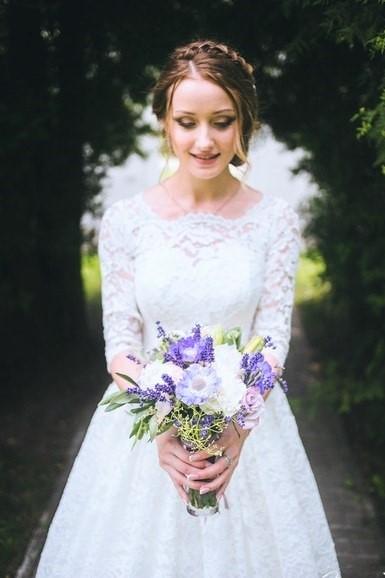 Лавандовый букет невесты