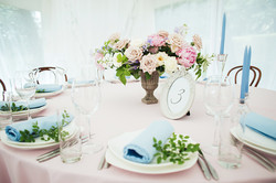 Свадьба в пудровом розовом