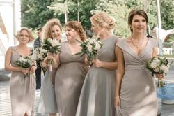 Букеты подружкам невесты