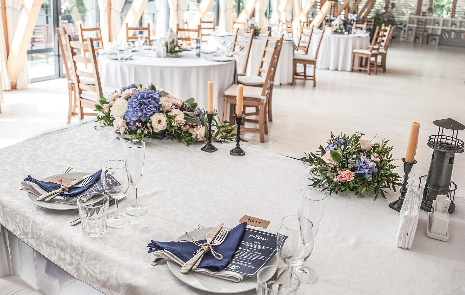 Декор свадьбы в морском стиле