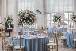 Свадьба в голубых тонах. Высокие ваз