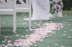 лепестки на свадьбе