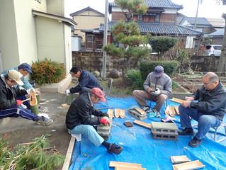 竹灯籠、竹水羊羹の竹作りを行いました!