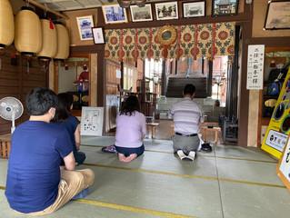 東京・札幌からの参拝