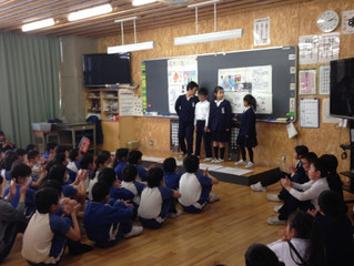 小学生が黒龍神社の発表をしてくれましました