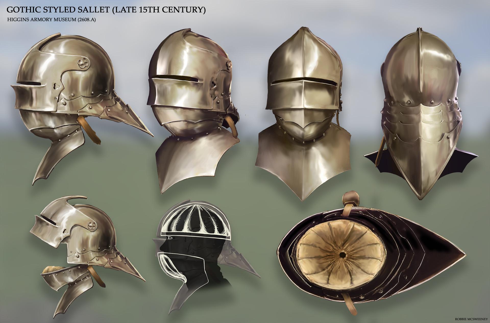 Gothic Style Sallet Helmet
