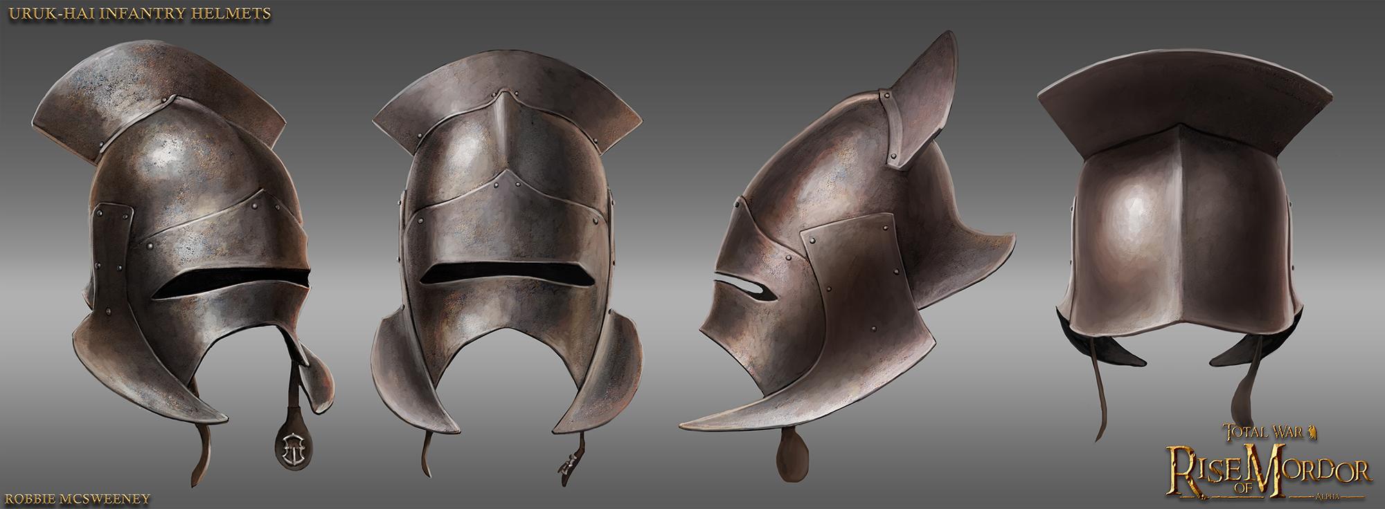Uruk-Hai infantry helmet