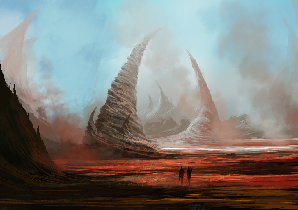 Rock formation sketch