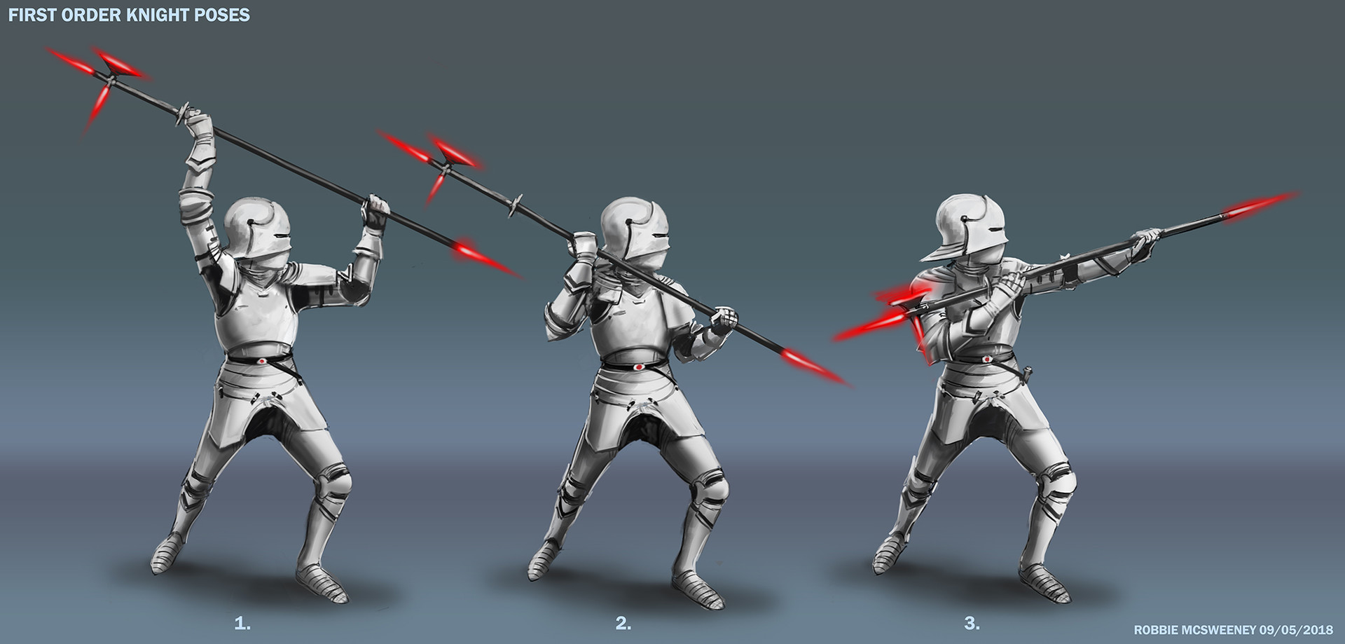 First Order Knight - Guard Sketches
