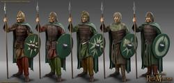 Rohan mustered spearmen